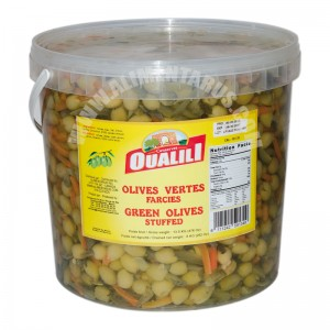 Stuffed Green Olives With Vegetables Oualili 8kg