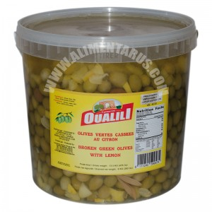 Broken Green Olives & Lemon Oualili 8kg