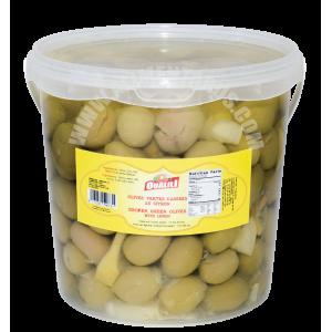 Broken Green Olives With Lemon Oualili 1,9 Kg