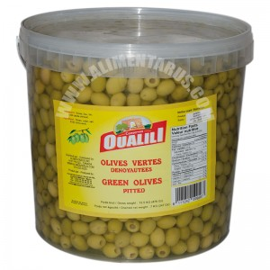 Pitted Green Olives Oualili 7kg