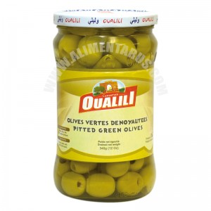 Pitted Green Olives Oualili 340g