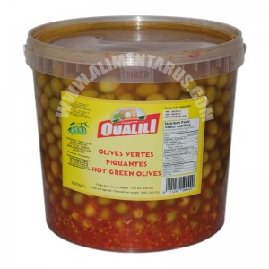 Hot Green Olives Oualili 8kg