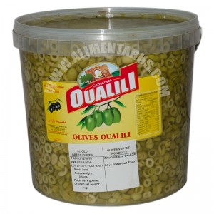 Slices Green Olives Oualili 7 Kg